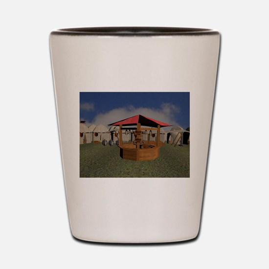 Medieval Market Tavern Shot Glass