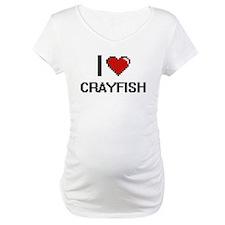 I Love Crayfish digital retro de Shirt