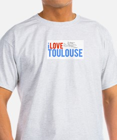 I Love Toulouse Ash Grey T-Shirt