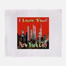 I Love You New York City Throw Blanket