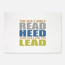 The Bible 5'x7'Area Rug