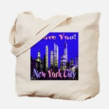 I Love You New York City Tote Bag