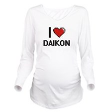 I Love Daikon digita Long Sleeve Maternity T-Shirt