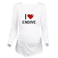 I Love Endive digita Long Sleeve Maternity T-Shirt