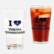 I love Verona Pennsylvania Drinking Glass