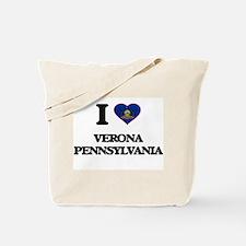 I love Verona Pennsylvania Tote Bag