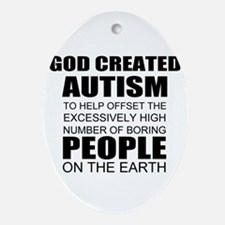 Autism awareness Ornament (Oval)