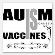 """autism cause Square Car Magnet 3"""" x 3"""""""