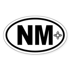 New Mexico Zia Oval Decal