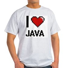 I Love Java digital retro design T-Shirt