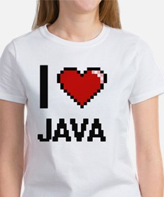 I Love Java digital retro design T-Shirt