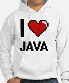 I Love Java digital retro design Hoodie