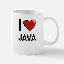 I Love Java digital retro design Mugs