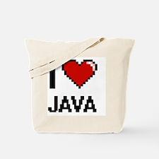 I Love Java digital retro design Tote Bag