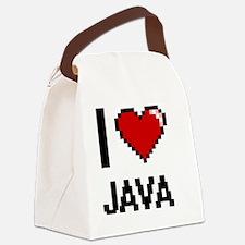 I Love Java digital retro design Canvas Lunch Bag