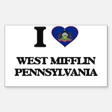 I love West Mifflin Pennsylvania Decal