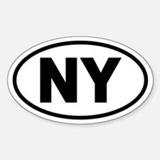 Basic New York Oval Decal