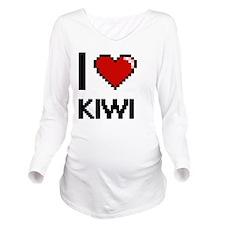 I Love Kiwi digital Long Sleeve Maternity T-Shirt