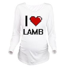 I Love Lamb digital Long Sleeve Maternity T-Shirt