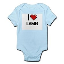 I Love Lamb digital retro design Body Suit