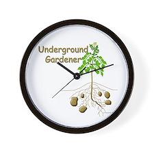 Underground gardener Wall Clock