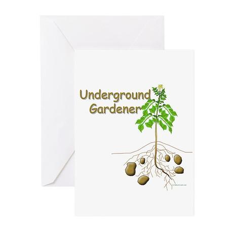 Underground gardener Greeting Cards (Pk of 10)
