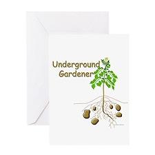 Underground gardener Greeting Card