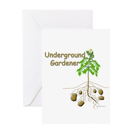 Underground gardener Greeting Card