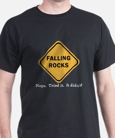 funny clumsy falling rocks road T-Shirt