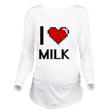 I Love Milk digital Long Sleeve Maternity T-Shirt