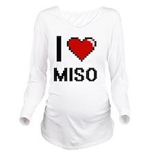 I Love Miso digital Long Sleeve Maternity T-Shirt