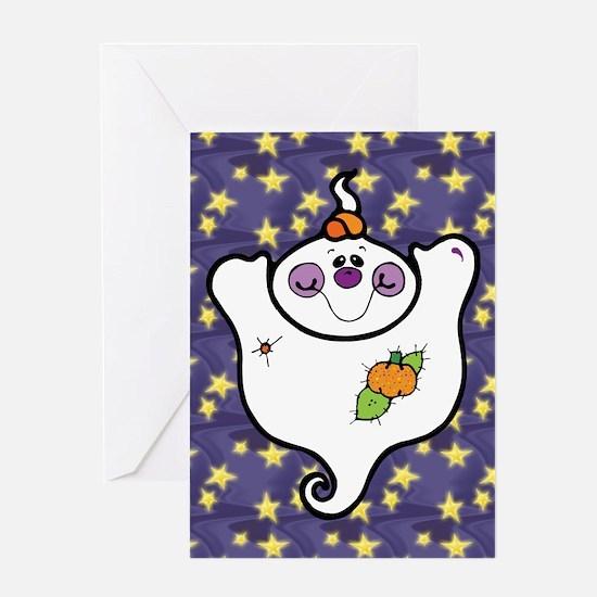 Fat Cute Ghost Greeting Card