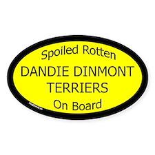 Spoiled Dandie Dinmont Terriers Oval Decal