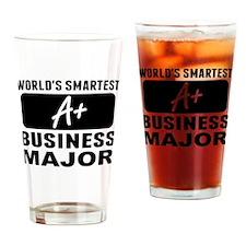 Worlds Smartest Business Major Drinking Glass