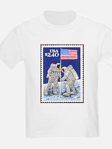 Apollo 11 Flag Kids Space T-shirt gift