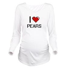 I Love Pears digital Long Sleeve Maternity T-Shirt