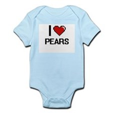 I Love Pears digital retro design Body Suit