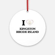 I love Kingston Rhode Island Ornament (Round)