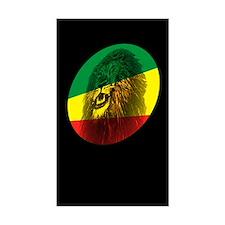 Reggae Lion Dark Rectangle Decal