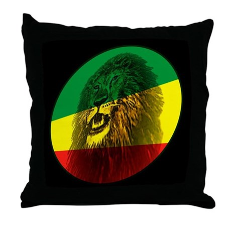 Reggae Lion Throw Pillow