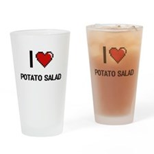 I Love Potato Salad digital retro d Drinking Glass