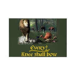 Every Knee Shall Bow - Rectangle Magnet