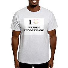 I love Warren Rhode Island T-Shirt