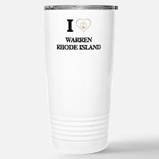 I love Warren Rhode Isl Travel Mug