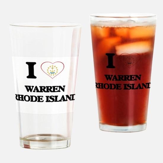 I love Warren Rhode Island Drinking Glass