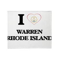 I love Warren Rhode Island Throw Blanket