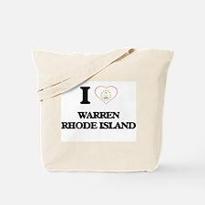I love Warren Rhode Island Tote Bag