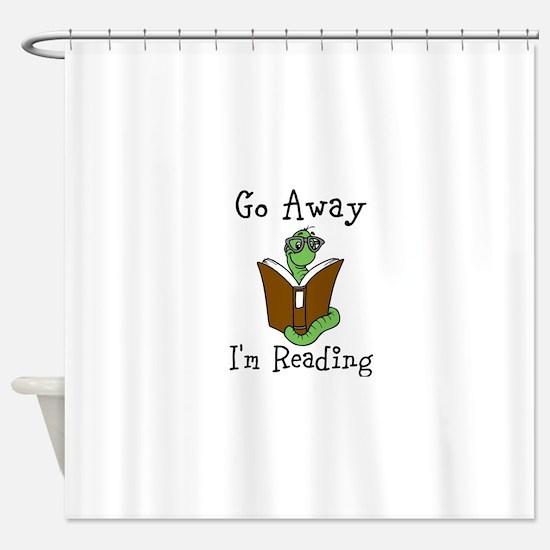 Go Away Shower Curtain