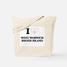 I love West Warwick Rhode Island Tote Bag