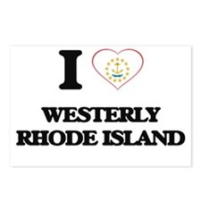 I love Westerly Rhode Isl Postcards (Package of 8)